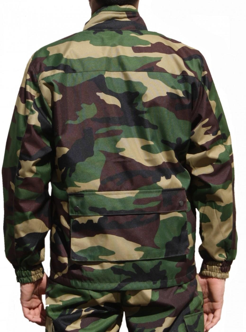 ... Jagdjacke Jacke Textilien in Militärfarbe mit Hirsch Stickerei 2 ...