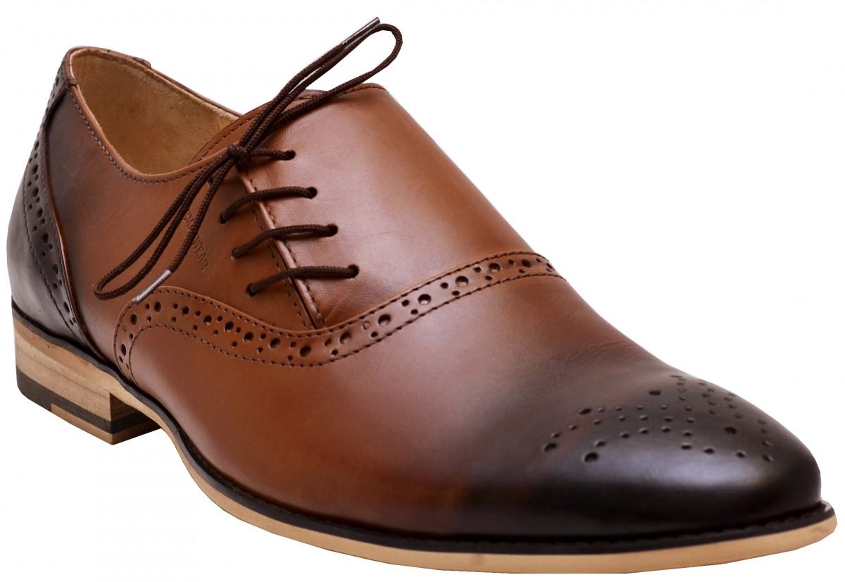 Business Schuhe Halbschuhe Lederschuhe mit Ledersohlen braun