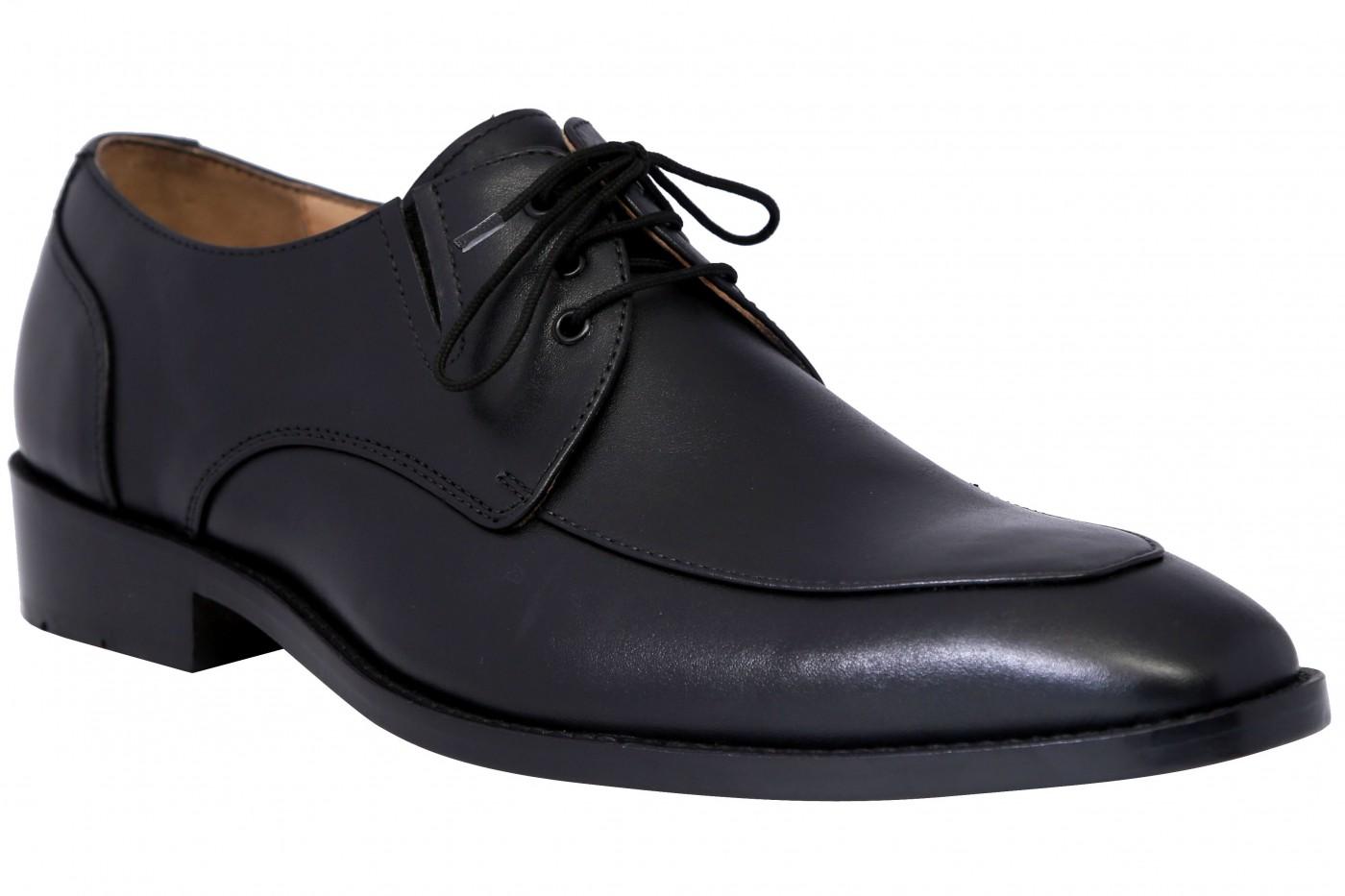 German Wear, Derby Business-schuhe Halbschuhe Lederschuhe mit Ledersohle Schuhe schwarz