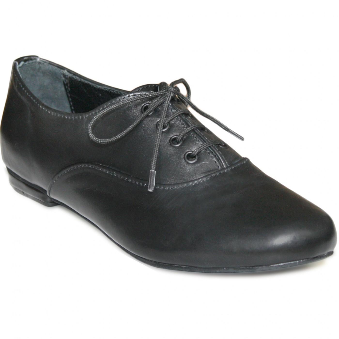 43f1546812f786 Damen Halbschuh Oxford lederschuhe aus Glattleder in schwarz 1 ...