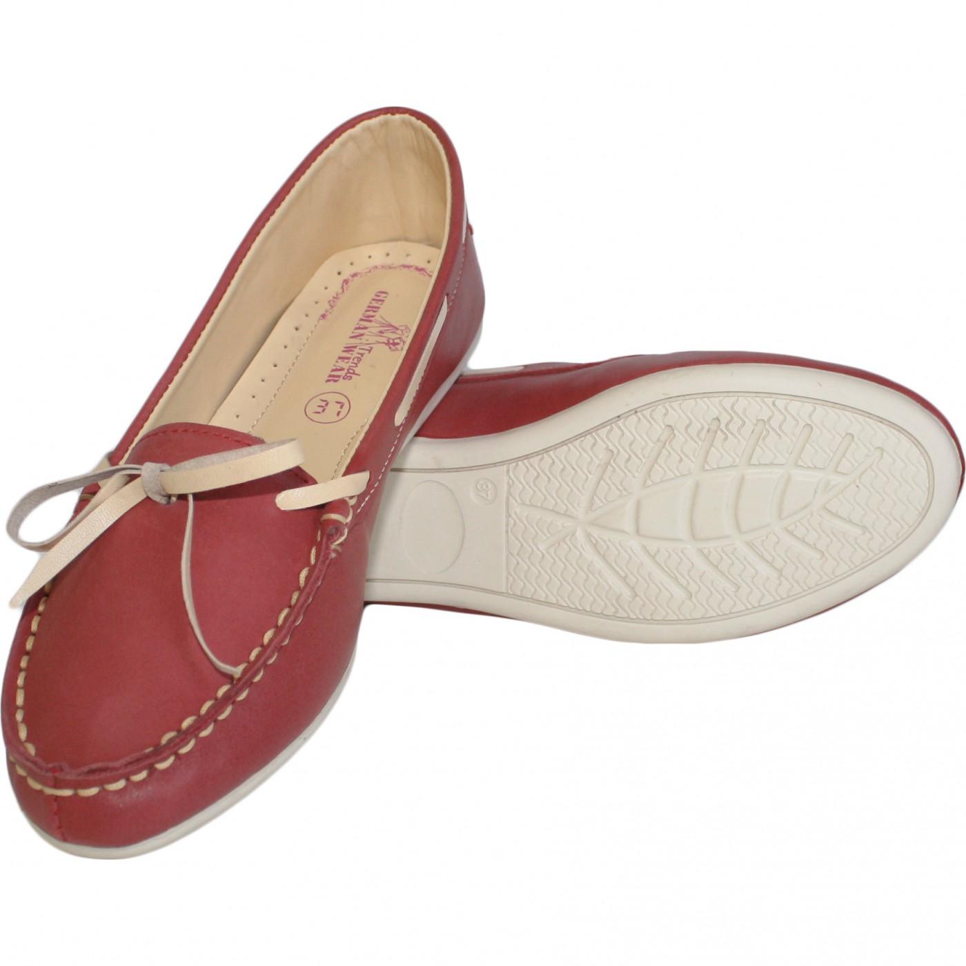 Stiefelschuhe Stiefelschuhe Stiefelschuhe Mokassins Segelschuhe lederschuhe Schuhe rot beige 05734a