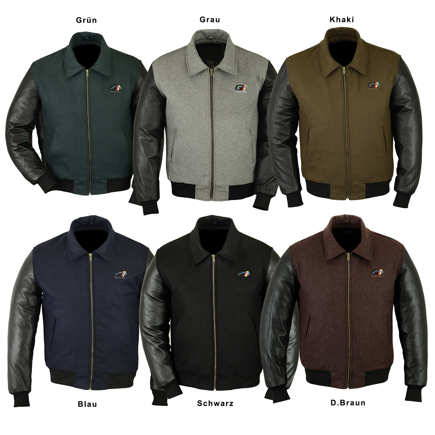 sports shoes d7546 0798e German Wear, Collegejacke Wolljacke College Blouson varsity Jacke  Lederärmel Lammnappa