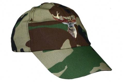 German Wear, Jagdmütze Jägermütze Hunting cap Textilien Hirsch Stikerei Woodland
