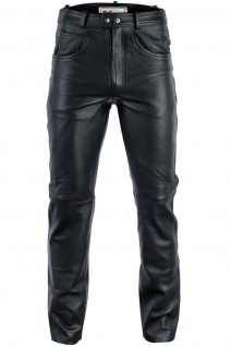 Herren Lederhose lederjeans bikerjeans jeans hose aus echtleder Schwarz und Braun