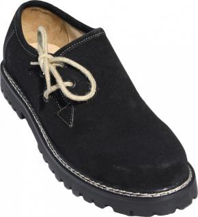 Trachtenschuhe Haferlschuhe aus Leder Oktoberfest Schuhe Juteschnüre Schwarz