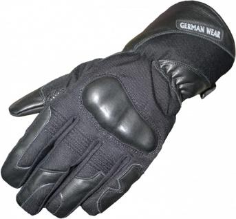 German Wear, Motorradhandschuhe Motorrad Biker Handschuhe Schwarz