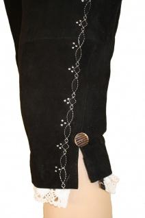 Damen Trachten lederhose Kniebundhose Damenlederhose mit Hosenträgern - Vorschau 3
