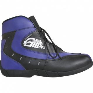 Motorrad Trends bikers Stiefel Motorradstiefel Stiefelette Blau/Schwarz 18, 5cm