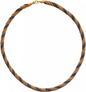 German Wear, Trachtenkordel Kordel Kette Anhänger Metall gold grau Trachten