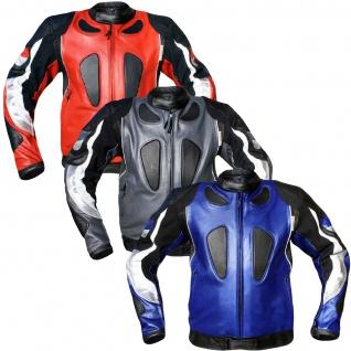 Lederjacke Motorradjacke Kombijacke aus Rindsleder