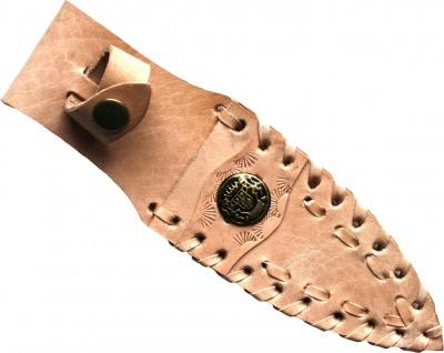 Messerscheide für Jagdnicker, Messer & Trachtenmesser, echtleder beige