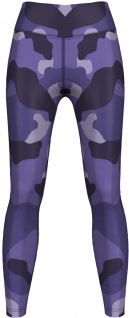 Leggings Tights dehnbar Sport Gymnastik Training Yoga Tanzen, Lila Camo
