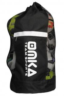 OMKA Fußball Rugby Handball Ballsack Reisetasche Carry Bag mit Schultergurt für 10 Bälle - Vorschau 2