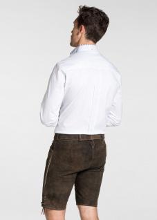 Trachten Herren Lederhose Veit 134-H kurzhose mit Gürtel Ziegenvelour Stickerei - Vorschau 3