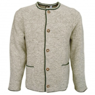 Herren Trachten Wolljanker Strickjacke Trachten Jacke