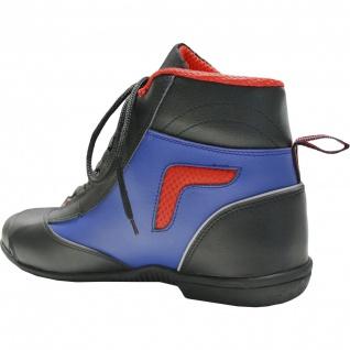 German Wear, Biker Motorradstiefel Motorrad Touring Stiefel stiefletten schwarz, blau/rot 17cm - Vorschau 5