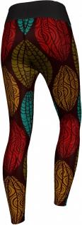 German Wear, Leggings Tights dehnbar Sport Gymnastik Training Tanzen Yoga, Aztec schwarz/rot/grün - Vorschau 2