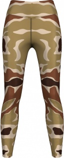 Leggings Tights dehnbar für Sport, Yoga, Gymnastik, Training, Yoga, Tanzen, Camo Beige/Braun