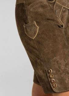 Trachten Damen Lederhose Odette 134-D kurzhose Ziegenvelour Stickerei - Vorschau 5