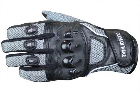 Motocross Motorradhandschuhe Biker Handschuhe Textilhandschuhe Grau - Vorschau 2