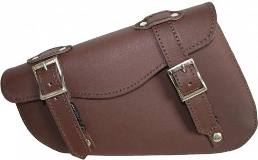 Motorrad Satteltasche saddlebag Motorradtasche Solobag Solo Tasche Werkzeugtasche aus Leder - Vorschau 1
