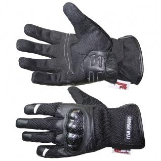 RadMasters, Motorradhandschuhe Biker Handschuhe Textilhandschuhe Schwarz - Vorschau 4
