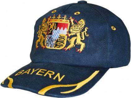German Wear, Trachten basecap Cappe hut Bayernmuster mit gesticktem Bayerischen Wappen