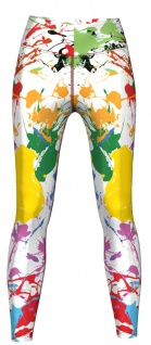 Splash Leggings sehr dehnbar für Sport, Yoga, Gymnastik, Training & Fashion Mehrfarbig
