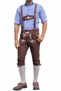 Trachten Kniebundhose Oktoberfest Jeans Hose kostüme mit Hosenträgern Braun