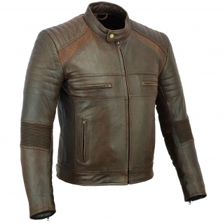 Motorradjacke Vintage Lederjacke Coffe rider jacke Braun
