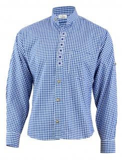 GermanWear Trachtenhemd mit Edelweiß-Stickerei stehkragen 100% Baumwolle - Vorschau 3