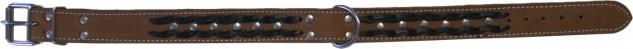 Hundehalsband aus echtem Leder 55-64cm in braun