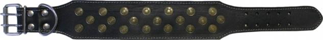 Hundehalsband aus echtem Leder 45-54cm in schwarz - Vorschau 1