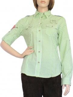 Trachtenbluse Damen Trachten lederhosen-bluse Trachtenmode Grün kariert