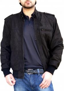 German Wear, Lederjacke echtleder Stehkragen Jacke aus Nubuk Leder Braun