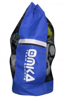OMKA Fußball Rugby Handball Ballsack Reisetasche Carry Bag mit Schultergurt für 10 Bälle - Vorschau 4