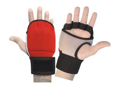 Fitness Neopren Handschuhe Gewichtheben Bodybuilding Gelpads Workout Training rot/schwarz/weiß