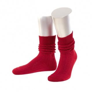 Damen Trachtensocken Trachtenstrümpfe Zopf Socken Rot