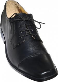 German Wear, Business-schuhe Halbschuhe Derby Lederschuhe Rindsleder Ledersohle Schuhe schwarz