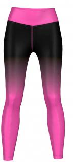 Pinky Leggings sehr dehnbar für Sport, Gymnastik, Training & Fashion Schwarz/Pink
