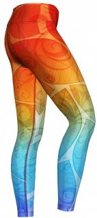 Orange & Blue Ombre Leggings sehr dehnbar für Sport, Yoga, Gymnastik, Training, Tanzen & Freizeit - Vorschau 2