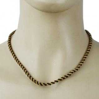 German Wear, Trachtenkordel Kordel Kette Anhänger Metall schwarz gold Trachten Tracht