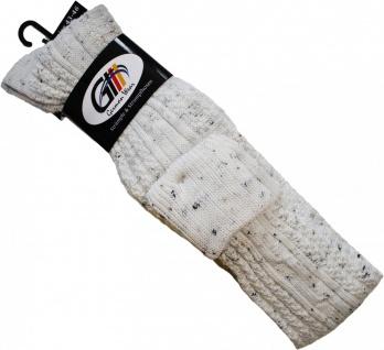 EXTRA Lange Trachtensocken Strümpfe Trachtenlederhose Socken aus Wolle mittelbeige 75cm - Vorschau 2
