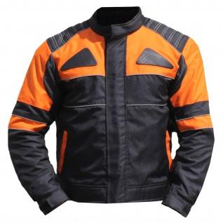 Textilien Jacke Motorradjacke Kombigeeignet Schwarz/Orange