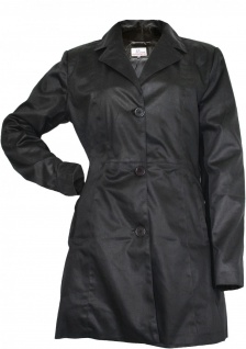 German Wear, Damen mantel Trenchcoat aus Baumwolle Schwarz