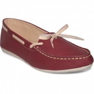 Bootsschuhe Mokassins Segelschuhe lederschuhe Schuhe rot/beige