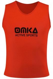 OMKA Fußball Leibchen Trainingsleibchen Markierungshemd Fußballleibchen Orange