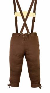 German Wear, Damen Trachten Kniebundhose Jeans Hose kostüme mit Hosenträgern Braun - Vorschau 3