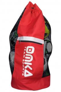 OMKA Fußball Rugby Handball Ballsack Reisetasche Carry Bag mit Schultergurt für 10 Bälle - Vorschau 3