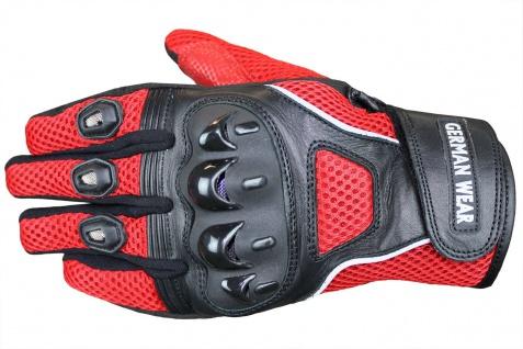 RadMasters, Motocross Motorradhandschuhe Biker Handschuhe Textilhandschuhe Rot - Vorschau 2